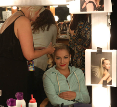 Jessica tries to relax before the performance finale.