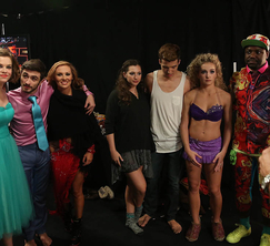 The dancers and their all-star partners prepare to take the stage!