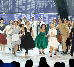 The Top 20 perform a group routine choreographed by Joshua Bergasse.