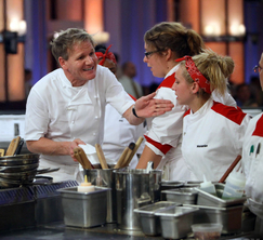 Moments after Chef Ramsay looks to the remaining members of the Red Team to complete service, they are also kicked out.