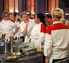 Chef Ramsay needs Sandra to pay attention and care about what she is doing.