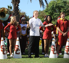 Chef Ramsay welcomes the remaining contestants to their next challenge, a tailgate.