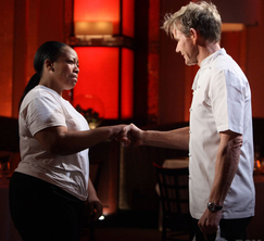 After a rough night in Hell's Kitchen, Chef Ramsay says farewell to Kashia.