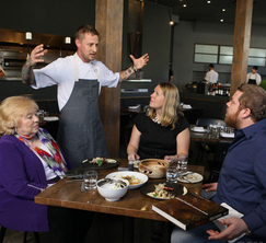 Jason and his family catch up with Michael Voltaggio, the head chef of Ink.