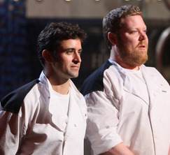 Scott and Jason get ready to head into the final challenge of Hell's Kitchen.