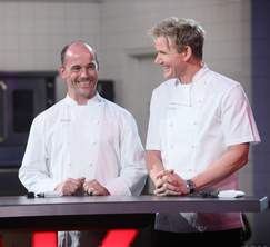 Quinn Hatfield takes his spot as one of the 5 judges in the Season Finale of Hell's Kitchen.