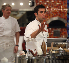 Scott keeps order in his kitchen during an intense Season Finale of Hell's Kitchen.
