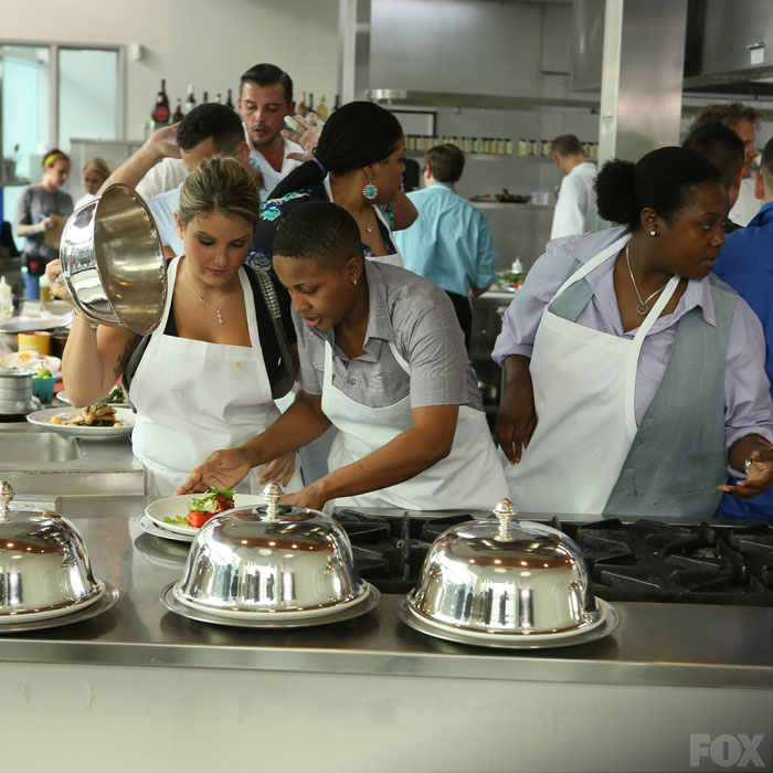 The 18 New Chefs Race Through The Kitchen To Finish The
