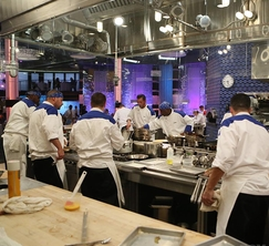 The pace is fast and furious during dinner service at Hell's Kitchen.