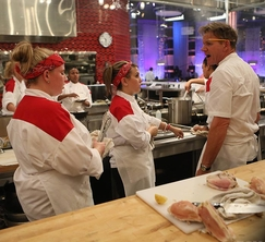 Chef Gordon Ramsay has a few choice words for the Red Team.