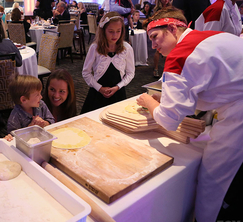 Families came to Hell's Kitchen to witness the culinary craft.