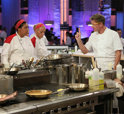 Chef Ramsay tells the Red Team there's a special guest at the Chef's Table.