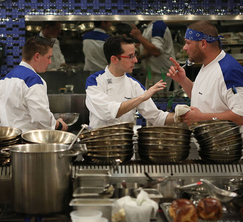The Blue Team seems to always be at odds with one another during dinner service.
