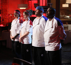 Unsatisfied with dinner service, Chef Ramsay has each team nominate two individuals for elimination.