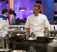 Chef Ramsay wasn't too thrilled with the Blue Team's lackadaisical performance.