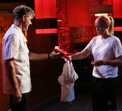 Ashley Sherman is eliminated from Hell's Kitchen.