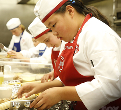 The contestants have one hour to prep and 75 minutes to complete the service.