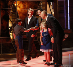 Sarah and Gavin say goodbye to the MasterChef judges.