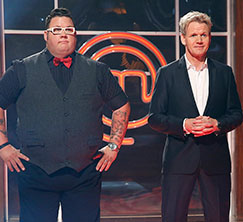The judges welcome the two finalists to the first ever MasterChef Junior grand finale!