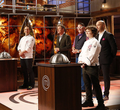The contestants learn that they will be cooking one of two dishes created by Luca and Alexander.