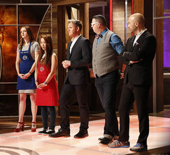 Tonight's challenge theme is love! Seventeen couples will fill the MasterChef kitchen and two teams of 6 will prepare a romantic dinner.