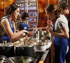 The Blue Team, led by Elizabeth, will be preparing a medium rare filet with beet and potato puree.