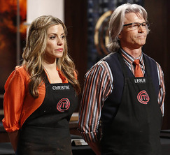 After preparing a box of very bitter chocolates, Christine must hand in her apron and leave the MasterChef kitchen.