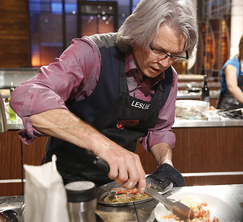 The contestants get just 60 minutes to prepare three prawn dishes.