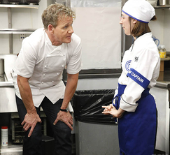 Chef Ramsay urges Jaimee to find her voice as a team leader in the kitchen.