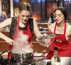 Elizabeth and Courtney decide to use the trout as their appetizer, while their entree will utilize the venison.