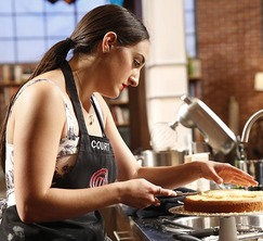 Courtney feels confident that she will move on to the finale as she has been baking cakes for years.