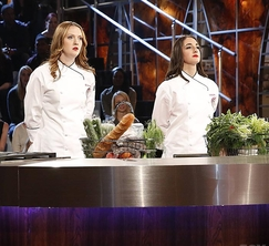 Elizabeth and Courtney prepare to do battle in the MasterChef Season 5 finale.