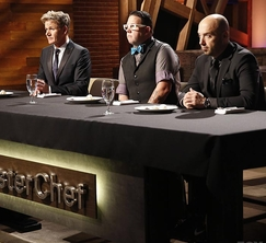 After tasting all of the dishes, the judges have a very tough decision to make.